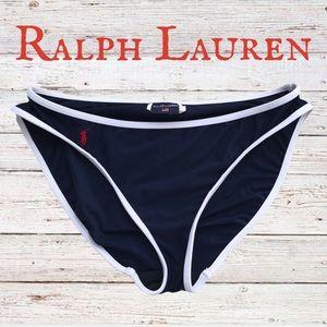 Ralph Lauren Sport Navy bikini bottoms swimsuit
